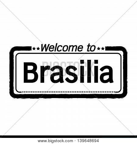 an images of Welcome to Brasilia city illustration design
