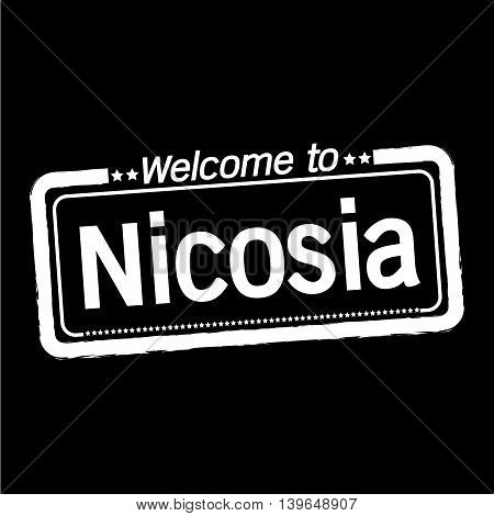 an images of Welcome to Nicosia city illustration design
