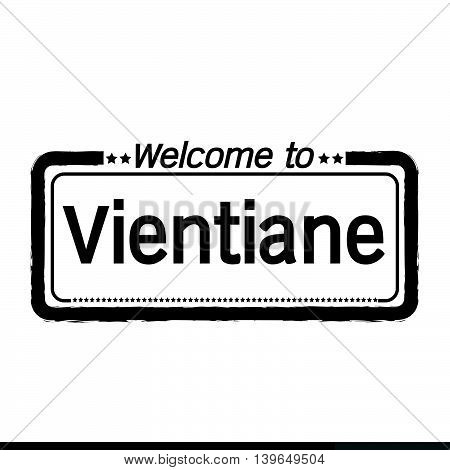 an images of Welcome to Vientiane city illustration design