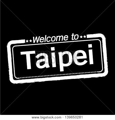 an images of Welcome to Taipei City illustration design