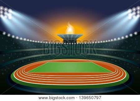 Athletics Stadium. Vector Illustration