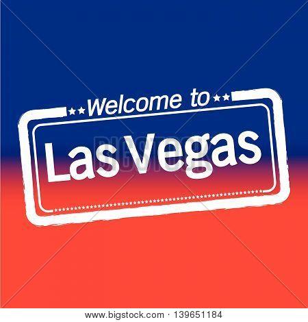 Welcome to Las Vegas City illustration design