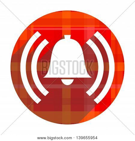 alarm red flat icon isolated on white background