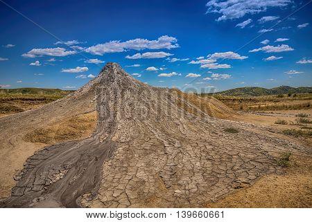 Active mud volcanoes in Buzau Romania, outdoor shot