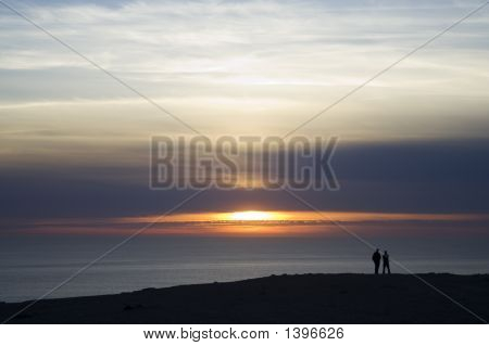 People At Sunset
