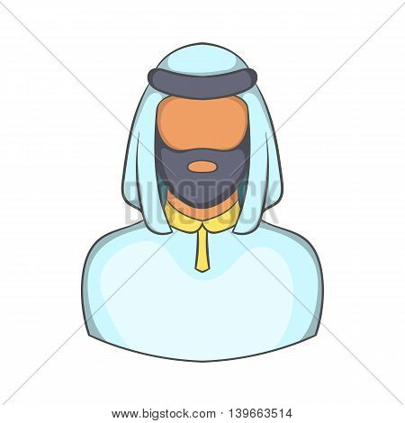 Male arab icon in cartoon style isolated on white background. People symbol