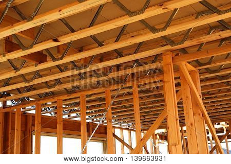 Steel web floor joists for Home Building Project