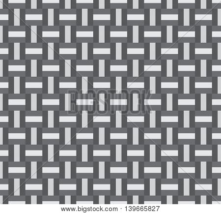 Weaving seamless geometric pattern background; gray color.