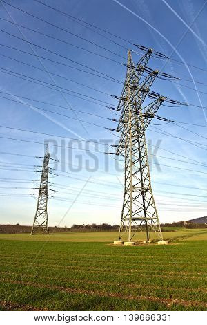 Electrical Tower With Sky