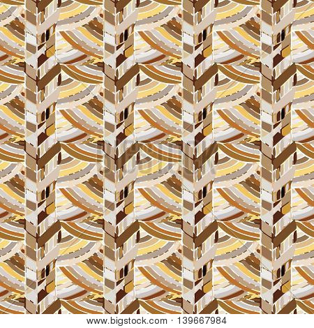 Tribal ethnic seamless brown pattern. Boho art print. Bright background for fabric, clothing, wallpaper, scrapbooking. Abstract seamless pattern