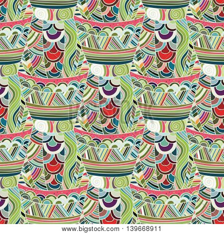 Mexican seamless pattern. Seamless pattern in ethnic, tribal, boho style. Trendy mexican background.