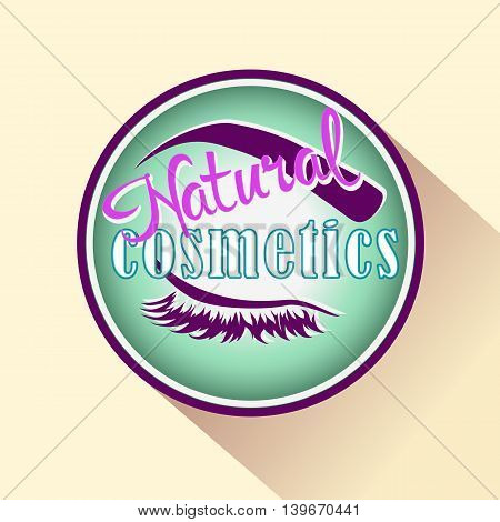 Natural Cosmetics icon or logo. Vector badge for Beauty product