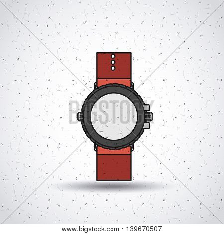 wristwatch isolated icon design, vector illustration  graphic