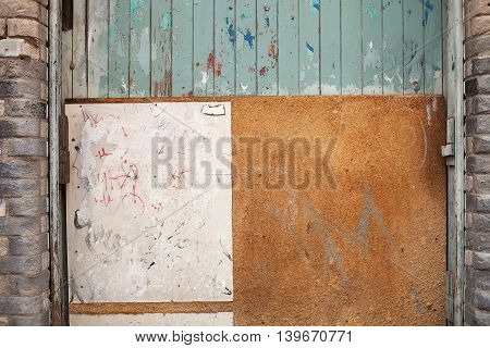 Abstract Wall In Alley