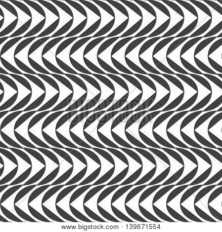 Seamless pattern. Modern abstract texture. Repeating geometric tiles with wave.