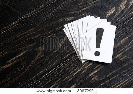 An Exclamation Mark On The Paper