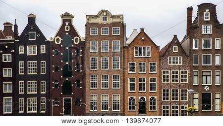 Holland Amsterdam the city's architecture old houses