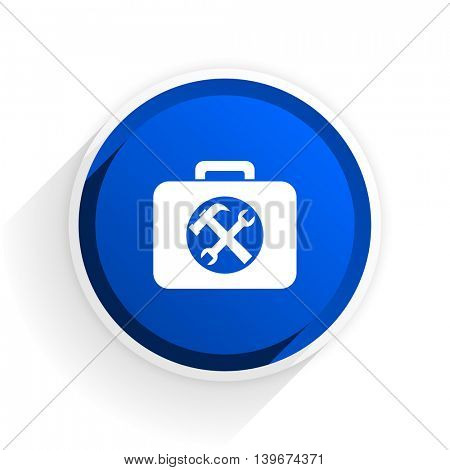 toolkit flat icon with shadow on white background, blue modern design web element
