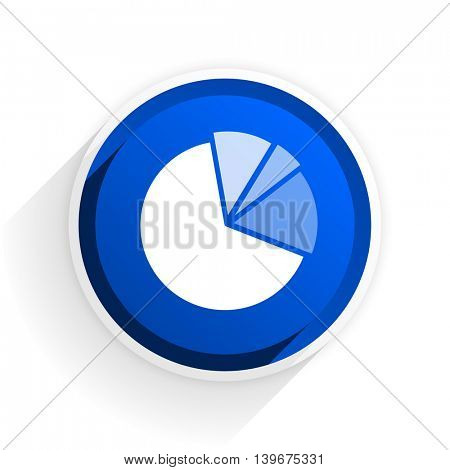 diagram flat icon with shadow on white background, blue modern design web element