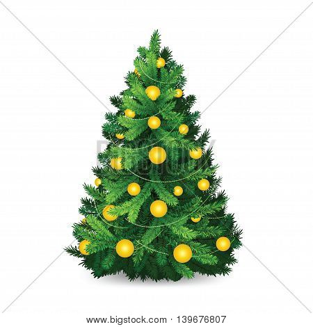 Christmas tree in layers for your design. Vector illustration.