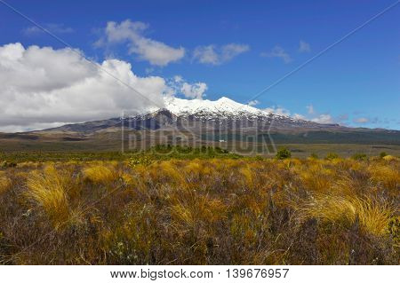 Mt. Ruapehu volcano, Tongariro Crossing National Park - New Zealand.