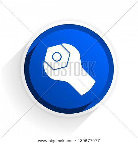tools flat icon with shadow on white background, blue modern design web element