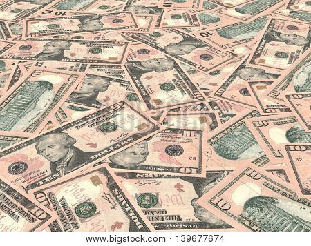 Ten Dollars Background.