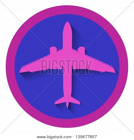 Airplane Icon Aircraft Logo Flat Vector Illustration
