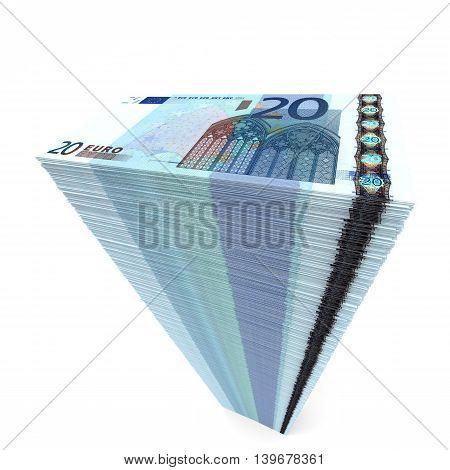Stack Of Banknotes. Twenty Euros.