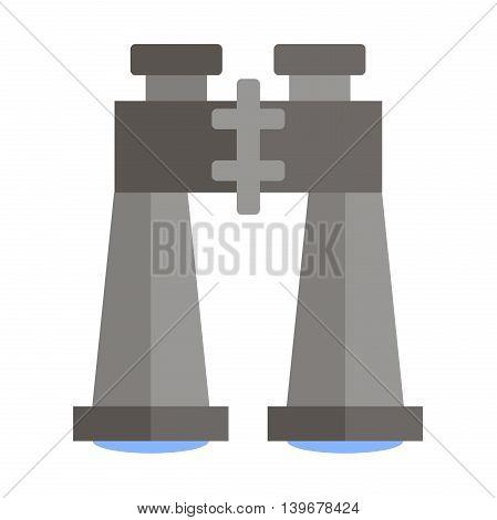 Flat web icon Binocular. Vector illustration, EPS 10