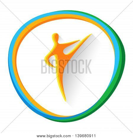 Taekwondo Sport Game Logo Competition Icon Vector Illustration