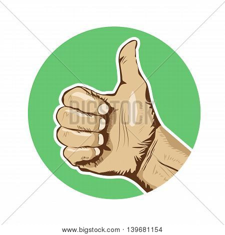 Closeup of human hand giving the thumbs-up