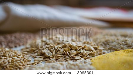 agriculture, background, breakfast, brown, cereals, cooking, corn,