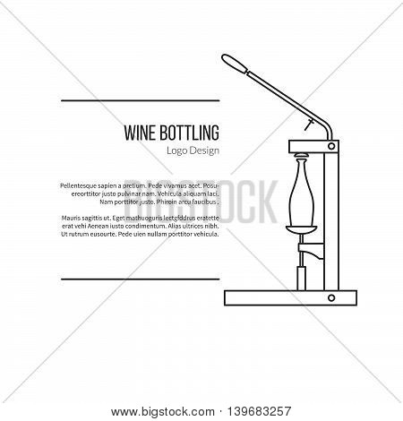 Winemaking, Wine Tasting Graphic Design Concept