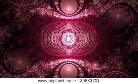 3D Julian surreal illustration. Sacred geometry. Mysterious psychedelic relaxation pattern. Fractal abstract texture. Digital artwork graphic design astrology alchemy magic