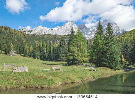 idyllic Tarn in Salzburger Land near Filzmoos,Alps,Austria