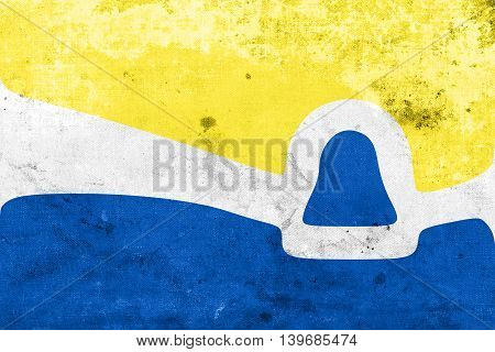 Flag Of San Luis Obispo, California, Usa, With A Vintage And Old