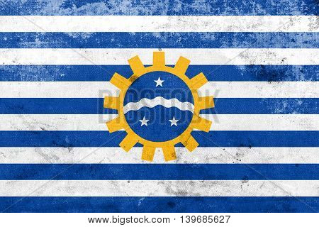Flag Of Sao Jose Dos Campos, Sao Paulo, Brazil, With A Vintage A