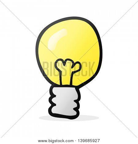 freehand drawn cartoon light bulb