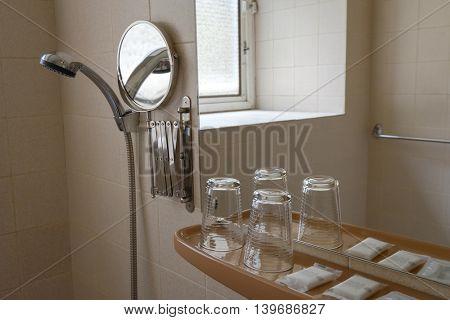 WC room interior in modern hotel