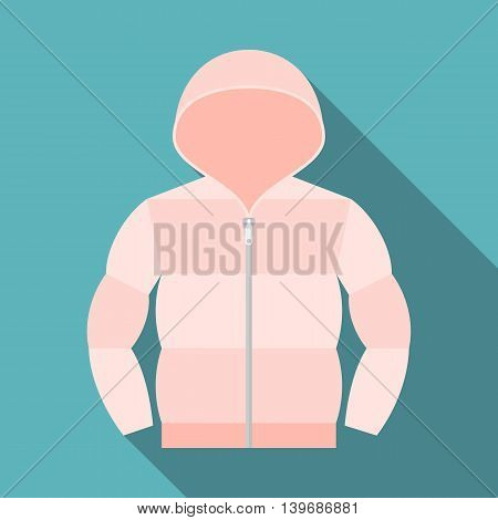 Vector duvet coat, flat design with long shadow