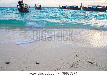 Ocean Waves And Sand Beach Background