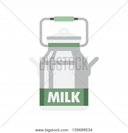 Holandaise Milk Flat Bright Color Primitive Drawn Vector Icon Isolated On White Background