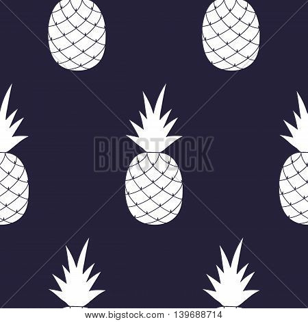 Vector Seamless Pattern with Pineapples for print