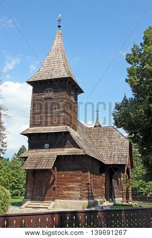 The chapel of St. Barbara wooden church near Velika Gorica Croatia