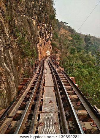 Thai train at tourist attraction of Thailand.