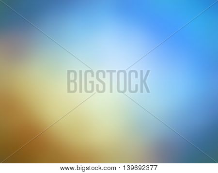 Abstract gradient orange blue colored blurred background.