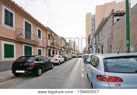 Parked Cars On Crowded Santa Catalina Street