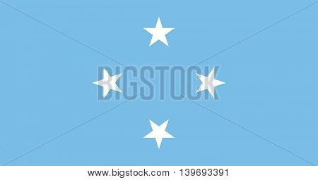 Vector Federated States of Micronesia flag