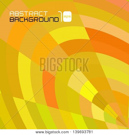 Polygonal abstract yellow background for business presentation. Vector illustration.